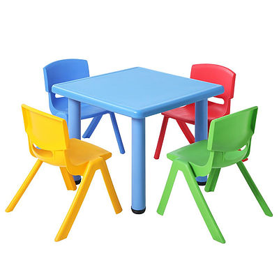 5 Piece Kids Table and Chair Set - Blue - Brand New - Free Shipping