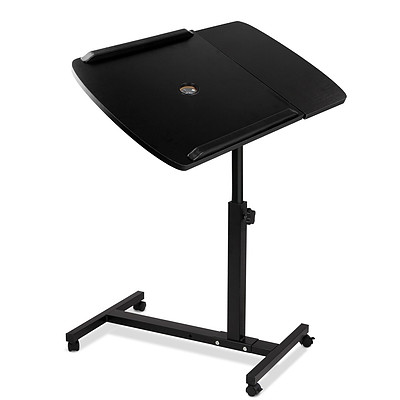 Adjustable Computer Stand with Cooler Fan - Black - Free Shipping