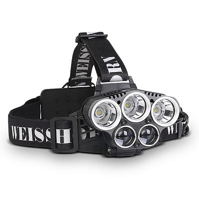 Set of 2 Six Mode LED Head Light Flash Torch - Free Shipping