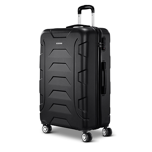 28 Luggage Sets Suitcase Trolley Travel Hard Case Lightweight Black