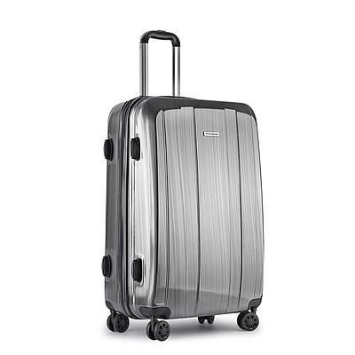 Hard Shell Travel Luggage with TSA Lock Grey - Free Shipping