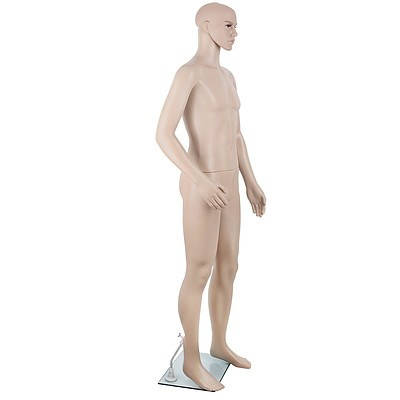185cm Tall Full Body Male Mannequin - Skin Coloured - Free Shipping