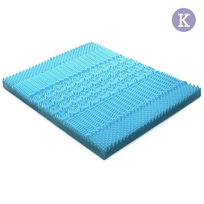 King Size 8cm Thick Bamboo Mattress Topper - Blue - Free Shipping