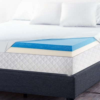 King Size Dual Layer Cool Gel Memory Foam Topper - Free Shipping