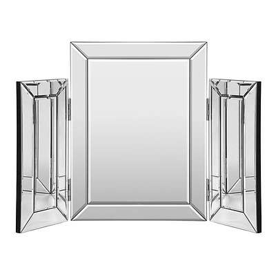 Mirrored Furniture Makeup Mirror Dressing Table Vanity Mirrors Foldable