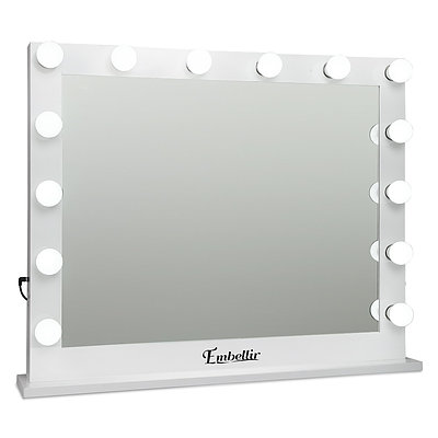 Make Up Mirror with LED Lights - White - Free Shipping
