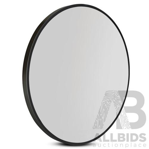 80cm Frameless Round Wall Mirror
