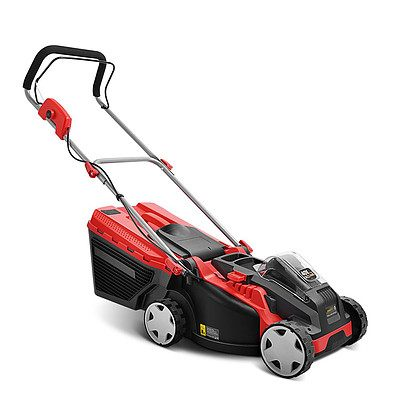 Cordless Lithium Battery Powered Electric Lawn Mower - Red & Black - Free Shipping