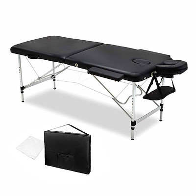 75cm Professional Aluminium Portable Massage Table - Black - Brand New - Free Shipping