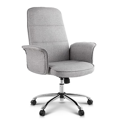 Fabric Desk Chair - Grey - Free Shipping