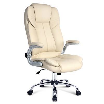 PU Leather Executive Office Chair - Beige - Brand New - Free Shipping