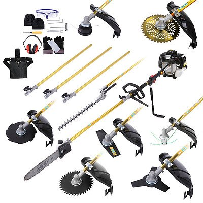 65CC  9 in 1 Multi Use Chainsaw Hedge Trimmer Whipper Brush Cutter - Free Shipping