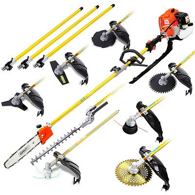 75CC 9 in 1 Multi Use Chainsaw Hedge Trimmer Whipper Brush Cutter - Free Shipping
