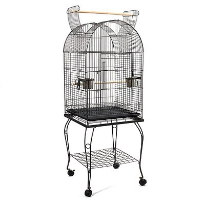 Parrot Pet Aviary Bird Cage with Open Roof 150cm Black - Brand New - Free Shipping