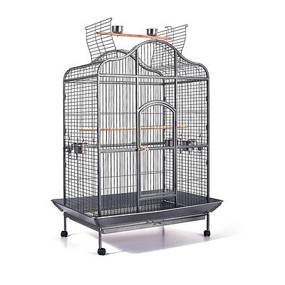 Pet Bird Cage with Stainless Steel Feeders - Brand New - Free Shipping