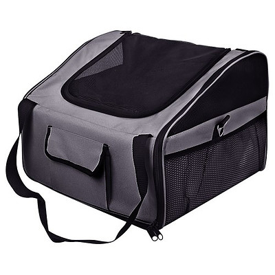Pet Dog Cat Car Seat Carrier Travel Bag Large Grey - Brand New - Free Shipping