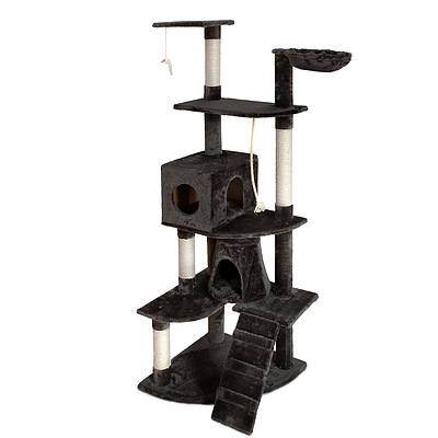 193cm Multi Level Cat Scratching Post - Grey - Brand New - Free Shipping