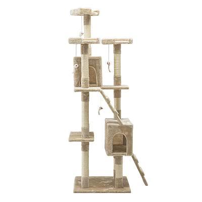 180cm Multi Level Cat Condo Scratching Tree Post - Beige - Free Shipping