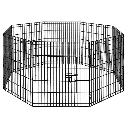 30 Inch 8 Panel Portable Pet Exercise Playpen - Free Shipping