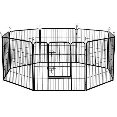 32 Inch 8 Panel Portable Pet Exercise Playpen - Free Shipping