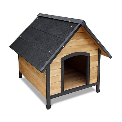 Wooden Dog Kennel Black - Large - Brand New - Free Shipping