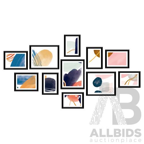 11 Piece Photo Gram Set - Black - Free Shipping