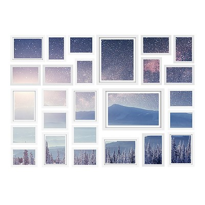 26 PCS Picture Photo Frame Wall Set Home Decor Present Gift White - Brand New - Free Shipping