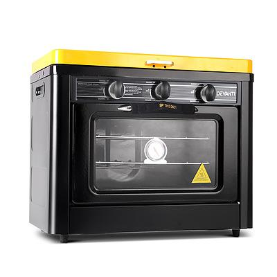 3 Burner Portable Oven - Black & Yellow - Free Shipping