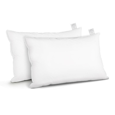 Duck Feather Down Twin Pack Pillow - Free Shipping