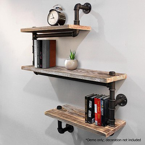 3 Level 84cm DIY Adjustable Metal Bookshelf - Free Shipping