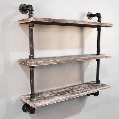 3 Level 92cm DIY Wall Mounted Bookshelf - Free Shipping