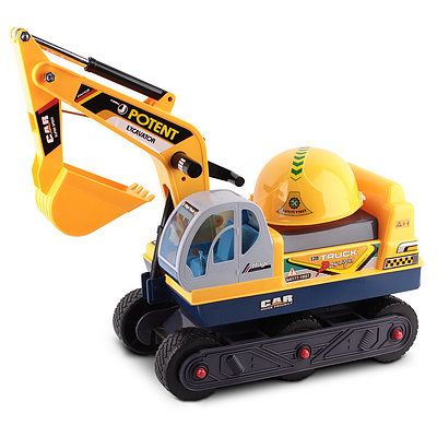 Kids Ride On Excavator Yellow - Free Shipping