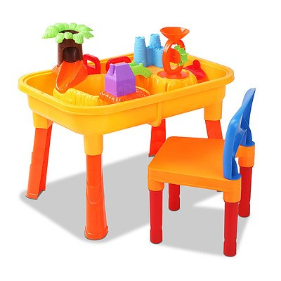 Kid's Outdoor Table & Chair Sandpit Toy Set - Free Shipping