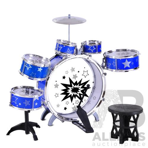 11 Piece Kids Drum Set - Brand New - Free Shipping