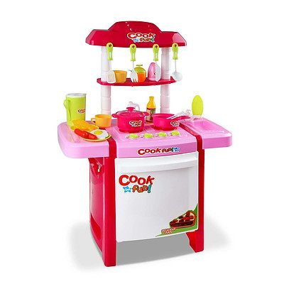 Kids Play Set Little Chef Kitchen 25 Piece - Pink - Brand New - Free Shipping