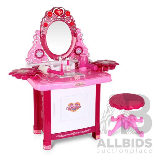 Kids Play Set Make Up Dresser 30 Piece - Pink - Free Shipping