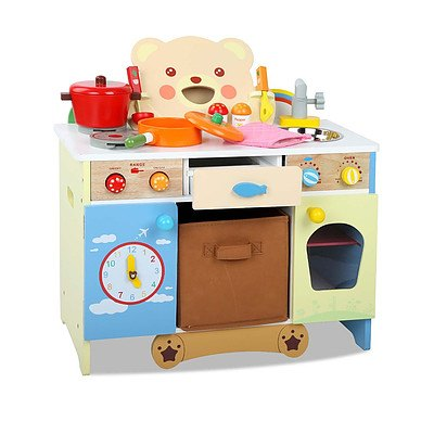 Wooden Kitchen Playset - Brand New - Free Shipping