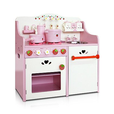 Children Wooden Kitchen Play Set Pink - Brand New - Free Shipping
