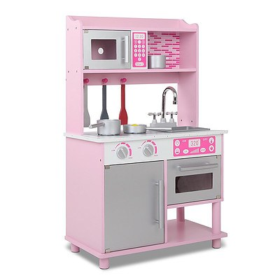 Kids Wooden Kitchen Playset Pink - Brand New - Free Shipping