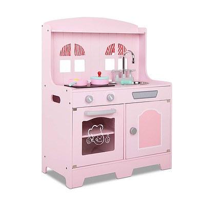 Kids Wooden Kitchen Playset Pink - Brand New - Free Shipping