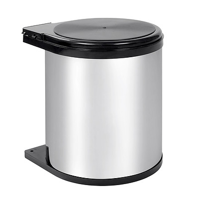 Auto Swing Out Lid Stainless Steel Bin 14L - Brand New - Free Shipping