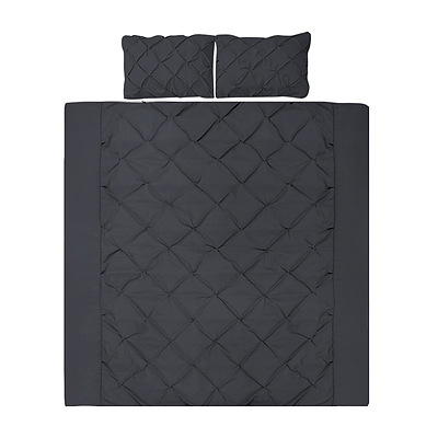 Giselle Bedding King Size Quilt Cover Set - Black - Free Shipping