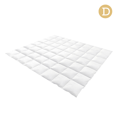 Double Size Goose Down Quilt - White - Free Shipping