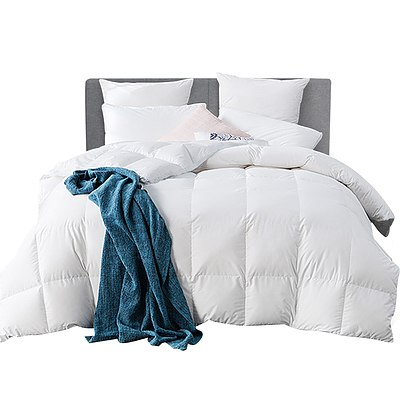 Super King Size Goose Down Quilt - White - Free Shipping