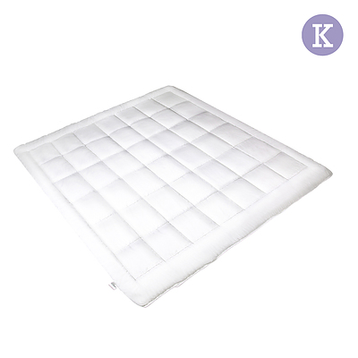 King Size Microfibre Quilt - White - Free Shipping