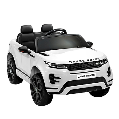 Kids Ride On Car Licensed Land Rover 12V Electric Car Toys Battery Remote White - Brand New - Free Shipping