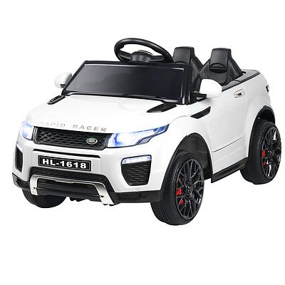 Kid's Electric Ride on Car Range Rover Evoque Style - White - Free Shipping