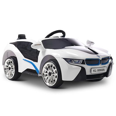 BMW i8 Style Electric Toy Car - White - Free Shipping