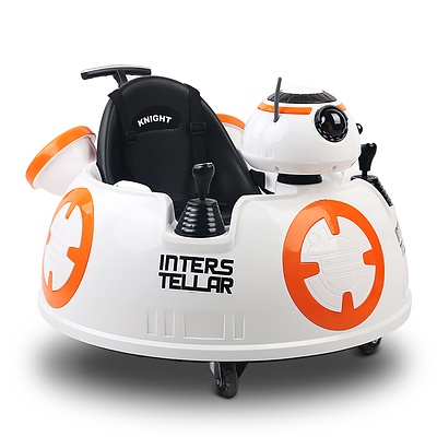 Star Wars BB8 inspired Kids Ride On Car - Orange and White - Free Shipping