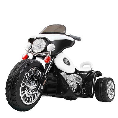 Kids Ride on Motorbike Black & White - Brand New - Free Shipping